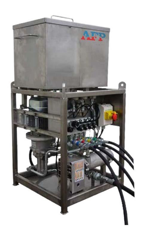 Windcare bearing flushing unit for bearing grease replenishment