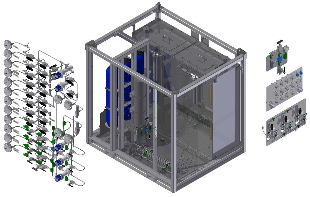 3D model of custom designed IWOCS HPU