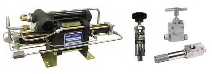 Haskel high pressure equipment range: gas boosters, valves